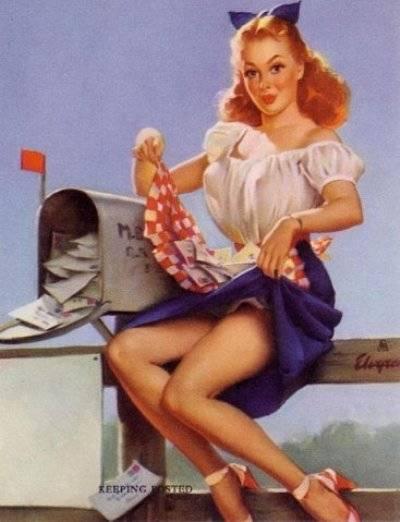 Под названием пин-ап (пинап, от англ. to pin up - прикалывать (подразумевается плакат, который прикалывают на стену)...